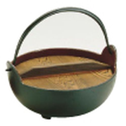 QYM02018 [やまが鍋(内茶ホーロー仕上) 18cm(杓子付)]