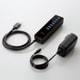 U3H-T719SBK [USBハブ3.0 マグネット付き セルフパワー 7ポート ブラック]