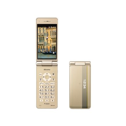 P-smart ケータイ P-01J(GO) [携帯電話 ゴールド]