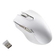 MUS-RKF127W [無線5ボタン オートスピード Blue LEDマウス ホワイト]