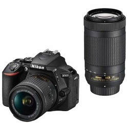 D5600 ダブルズームキット [ボディ+交換レンズ「AF-P DX NIKKOR 18-55mm f/3.5-5.6G VR」+「AF-P DX NIKKOR 70-300mm f/4.5-6.3G ED VR」]
