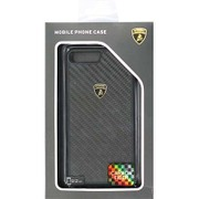 LB-TPUPCIP7P-EL/D3-BK [iPhone 7 Plus 対応 Lamborghini カーボンケース ブラック]