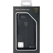 LB-HCIP7-HU/D1-BK [iPhone 7 対応 Lamborghini 高級本革バックカバーケース ブラック]