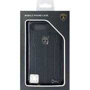 LB-HCIP7P-HU/D1-BK [iPhone 7 Plus 対応 Lamborghini 高級本革バックカバーケース ブラック]