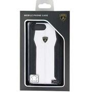 LB-HCIP7P-HU/D1-WE [iPhone 7 Plus 対応 Lamborghini 高級本革バックカバーケース ホワイト]