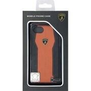 LB-HCIP7-HU/D1-OE [iPhone 7 対応 Lamborghini 高級本革バックカバーケース オレンジ]