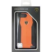 LB-HCIP7P-HU/D1-OE [iPhone 7 Plus 対応 Lamborghini 高級本革バックカバーケース オレンジ]