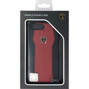 LB-HCIP7P-HU/D1-RD [iPhone 7 Plus 対応 Lamborghini 高級本革バックカバーケース レッド]