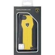 LB-HCIP7-HU/D1-YW [iPhone 7 対応 Lamborghini 高級本革バックカバーケース イエロー]