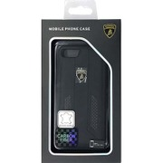 LB-TPUPCIP7-HU/D6-BK [iPhone 7 対応 Lamborghini 高級本革バックカバーケース ブラック]