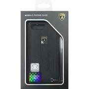 LB-TPUPCIP7P-HU/D6-BK [iPhone 7 Plus 対応 Lamborghini 高級本革バックカバーケース ブラック]
