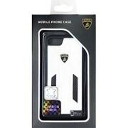 LB-TPUPCIP7-HU/D6-WE [iPhone 7 対応 Lamborghini 高級本革バックカバーケース ホワイト]