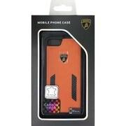 LB-TPUPCIP7-HU/D6-OE [iPhone 7 対応 Lamborghini 高級本革バックカバーケース オレンジ]