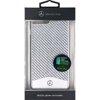 MEHCP7LCACSI [iPhone 7 Plus 対応 Mercedes-Benz カーボンケース シルバー]
