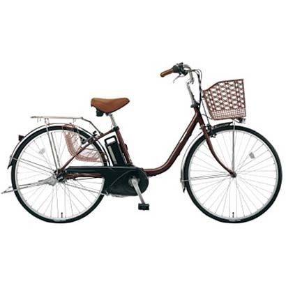 BE-ELTX632T [電動アシスト自転車 ビビ・TX 26型 6.6Ah 内装3段変速 チョコブラウン 2017年モデル]