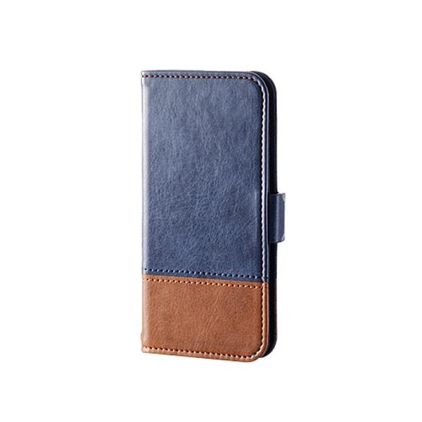 AVA-T16PLFDTBU [iPod touch 2015 ツートーンデザインソフトレザーカバー ブルー]