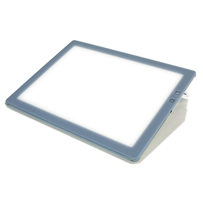 B4-500 [B4サイズ 調光機能付 薄型 LED トレース台 トレビュアー 3段階高さ調節可能 グレー]