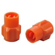 92994 [ムシ回し付きバルブキャップ(樹脂製) オレンジ]