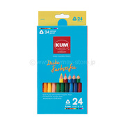 KM164 [KUM 太軸色鉛筆 24色]