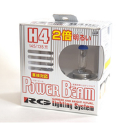 G40P [パワービーム 3400K 車検対応品 H4 145/135W ハロゲンバルブ]