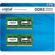 W3N1600CM-2G-YP [DDR3L-1600 PC3-12800 ノート用 バルクメモリ 204pin SO-DIMM 2GB 2枚組動作確認済セット]