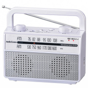 RAD-M067Z-W [AudioComm 耳元スピーカー ラジオ付き ワイドFM対応 ホワイト]