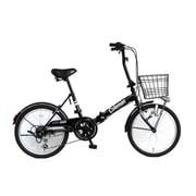 折りたたみ自転車 20型 外装6段変速  17 FD206-CARGO ブラック 3354