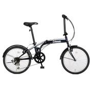 折りたたみ自転車 20型 外装6段変速 17 FD206-STYLE ネイビーブラック 3362