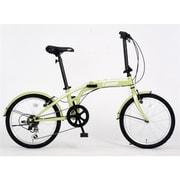 折りたたみ自転車 20型 外装6段変速 17 FD206-STYLE オリーブ 3364
