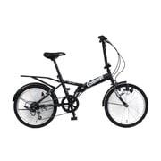 折りたたみ自転車 20型 外装6段変速 17 FD206-YOUTH ブラック 3357