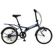 折りたたみ自転車 20型 外装6段変速 17 FD206-YOUTH ネイビー 3358