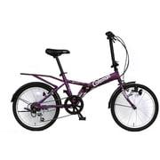 折りたたみ自転車 20型 外装6段変速 17 FD206-YOUTH パープル 3359