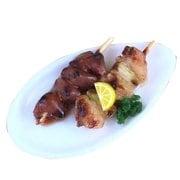 サンプルストラップ 焼き鳥 2本 皿付き