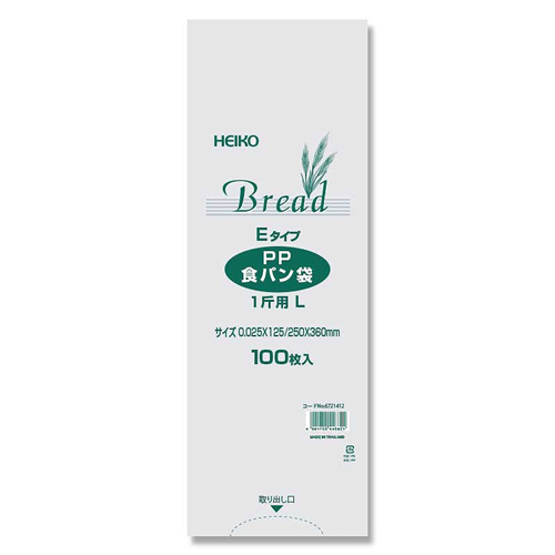 #6721412 [PP食パン袋 1斤用L Eタイプ 100枚入]
