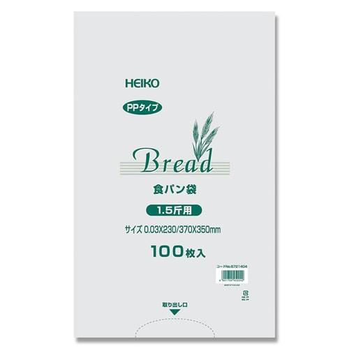 #6721404 [PP食パン袋 1.5斤用 100枚入]