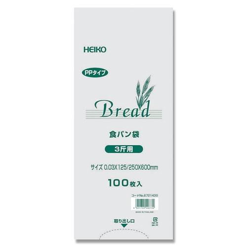 #6721430 [PP食パン袋 3斤用 100枚入]