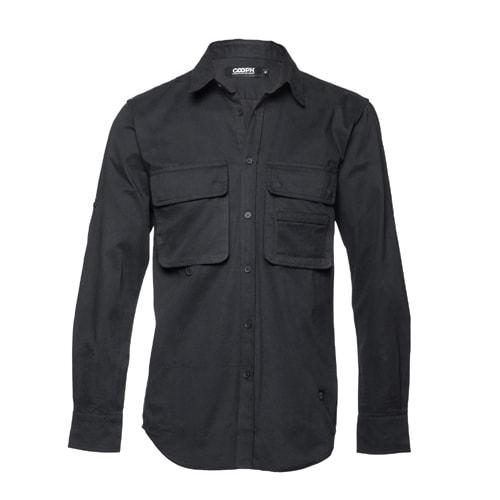 l/s Big Pocket shirt DOUBLE ECLIPSE Black M [ビッグポケットシャツ Mサイズ ブラック]