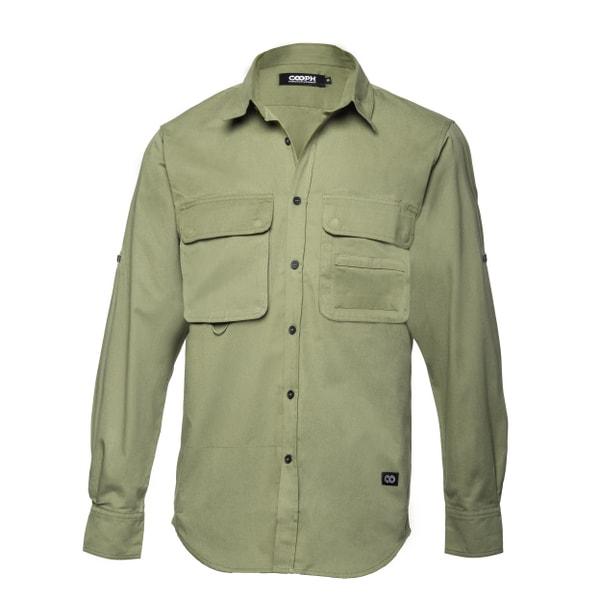 l/s Big Pocket shirt THE HUNTER Military S [ビッグポケットシャツ Sサイズ ミリタリー]