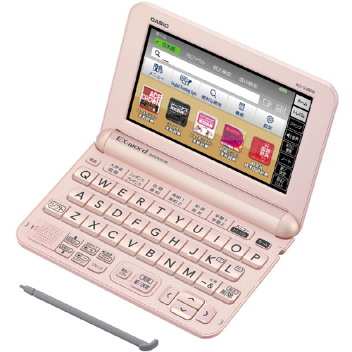 XD-G3800PK [電子辞書 EX-word(エクスワード) XD-Gシリーズ 中学生モデル 140コンテンツ収録 ライトピンク]