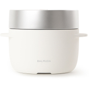 K03A-WH [BALMUDA The Gohan(バルミューダ ザ・ゴハン) 電気炊飯器 3合炊き ホワイト]
