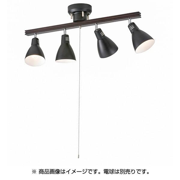 LT-YN40AW-K [4灯 シーリングライト ブラック 電球別売り]