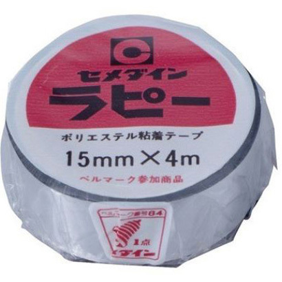 TP-262 [ラピー ポリエステル粘着テープ 15mm×4m 銀]