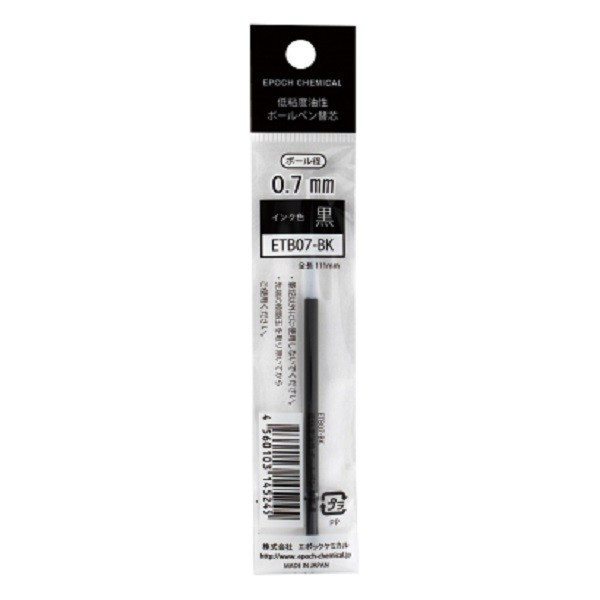 524-0080 [ETB07-BK 低粘度油性ボールペン替芯 黒]