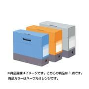 FL-028BF-OR [デジャヴカラーズシリーズ ボックスファイル フタ付き A4ヨコ 背幅100mm ネーブルオレンジ]