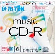 CD-RMU80.5PC [音楽録音用CD-R 5枚 80分 インクジェットプリンタ対応]