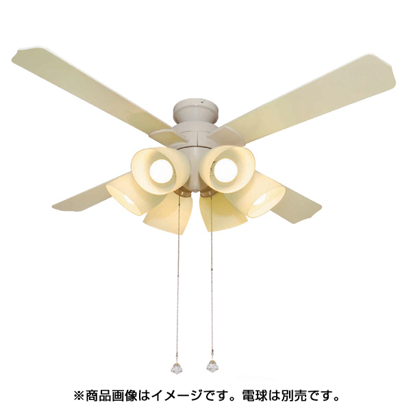 QJ-46WW6ND [シーリングファン 6灯 電球別売 白]