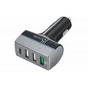 JUPV41J [Quick Charge 3.0対応 49.5W USB C+QC3.0+USB A×2ポートカーチャージャー]