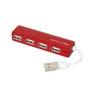 UH-2444R [USB2.0 4ポートハブ レッド]