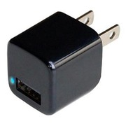 AJ-528 [AC充電器 USB1P 1A ブラック]