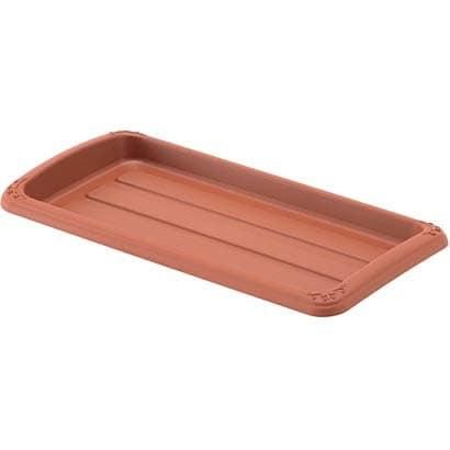 クイーンプレート 350型 ブラウン [長角型受皿]